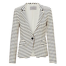 Buy Marella Stripe Jersey Jacket, Black Online at johnlewis.com