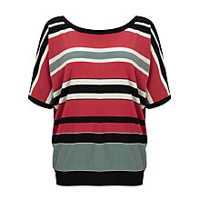 Buy Weekend by MaxMara Silk Blend Stripe Top, Pastel Green/Red Online at johnlewis.com