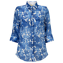 Buy Weekend by MaxMara Floral Print Shirt, Cornflower Blue Online at johnlewis.com