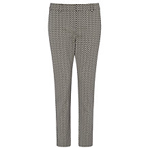Buy Marella Rosanna Geometric Print Trousers, Black Online at johnlewis.com
