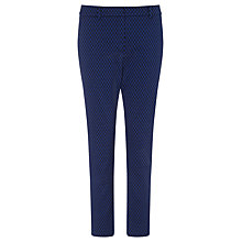 Buy Marella Rosanna Geometric Print Trousers, Cornflower Blue/Navy Online at johnlewis.com