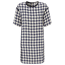 Buy Marella Giudea Dogtooth Shift Dress, Midnight Blue Online at johnlewis.com