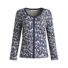 Buy Seasalt Sanderling Cardigan, Fowey Foliage Driftwood Online at johnlewis.com