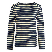 Buy Seasalt Little Greebe Top, Morning Tide Squid Ink Online at johnlewis.com
