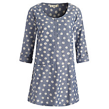 Buy Seasalt Porthole Tunic Top, Daisy Dot Indigo Online at johnlewis.com