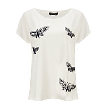 Buy Weekend by MaxMara Butterfly T-Shirt, White Online at johnlewis.com