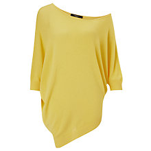 Buy Weekend by MaxMara Asymetrical Hem Jumper, Yellow Online at johnlewis.com