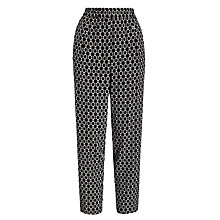 Buy Weekend by MaxMara Geo Print Trousers, Black Online at johnlewis.com