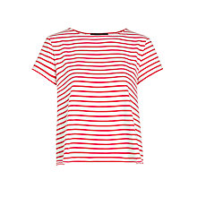 Buy Weekend by MaxMara Jersey Stripe Top, Red Online at johnlewis.com