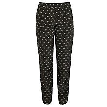 Buy Weekend by MaxMara Zebra Trousers, Dark Grey Online at johnlewis.com