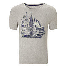 Buy Gant Sailboat Short Sleeve T-Shirt, Pearl Grey Melange Online at johnlewis.com