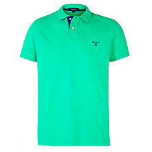 Buy Gant Contrast Collar Pique Polo Shirt, Spring Green Online at johnlewis.com