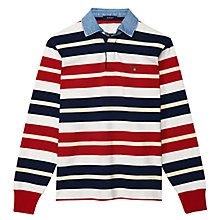 Buy Gant Barstripe Rugby Shirt, Red/Blue/White Online at johnlewis.com
