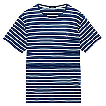 Buy Gant Breton Striped Cotton Crew Neck T-Shirt Online at johnlewis.com