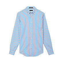 Buy Gant Basketweave Check Shirt, Blue/Pink Online at johnlewis.com