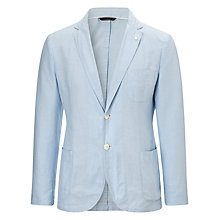 Buy Gant Oxford Cotton Blazer, Sea Blue Online at johnlewis.com