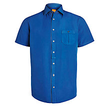 Buy BOSS Orange Short Sleeve Shirt, Blue Online at johnlewis.com