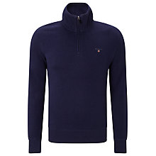Buy Gant Sacker 1/2 Zip Sweatshirt, Eclipse Online at johnlewis.com