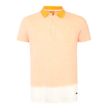 Buy BOSS Orange Pirmimo Dip Dye Polo Shirt, Peach Online at johnlewis.com