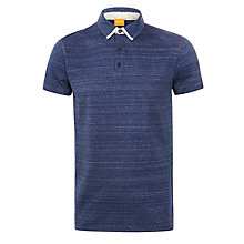 Buy BOSS Orange Paros Stripe Polo Shirt, Navy Online at johnlewis.com