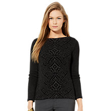 Buy Lauren Ralph Lauren Raglan Sleeve Top, Black Online at johnlewis.com
