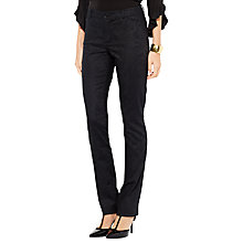 Buy Lauren Ralph Lauren Jacquard Straight Trousers, Black Online at johnlewis.com