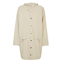 Buy Rains Long Jacket, Stone Online at johnlewis.com