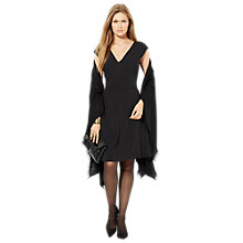 Buy Lauren Ralph Lauren Cap Sleeve Dress, Black Online at johnlewis.com
