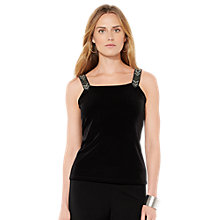 Buy Lauren Ralph Lauren Beaded Top, Black Online at johnlewis.com