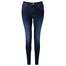 Buy 7 For All Mankind High-Waisted Skinny Jeans, Boston Blue Online at johnlewis.com