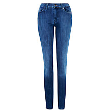 Buy 7 For All Mankind High Waist Straight Leg Jeans, Mid American Indigo Online at johnlewis.com