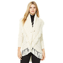 Buy Lauren Ralph Lauren Fringe Cardigan, Modern Cream Online at johnlewis.com