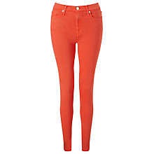 Buy 7 For All Mankind Skinny Silk Touch Jeans, Coral Online at johnlewis.com