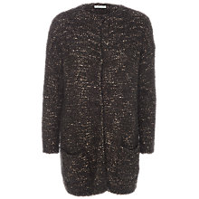 Buy Max Studio Long Boucle Cardigan, Black Online at johnlewis.com