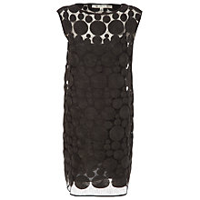 Buy Max Studio Cap Sleeve Dot Dress, Black Online at johnlewis.com