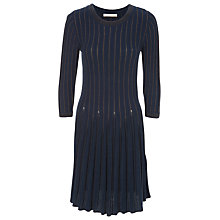 Buy Max Studio Knitted Dress, Sapphire/Charcoal Online at johnlewis.com