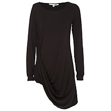 Buy Max Studio Drape Hem Top, Black Online at johnlewis.com