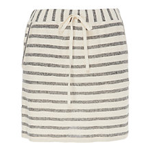 Buy Max Studio Striped French Terry Skirt, Navy/Natural Online at johnlewis.com