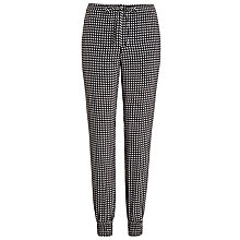 Buy Armani Jeans Geo Print Cuffed Trousers, Black/White Online at johnlewis.com