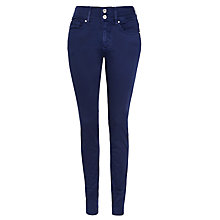 "Buy Salsa Secret Push-in, High-rise Slim Jeans 32"", Navy Blue Online at johnlewis.com"
