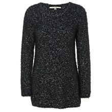 Buy Max Studio Reverse Knit Jumper, Black/Blue Online at johnlewis.com
