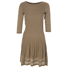 Buy Max Studio 3/4 Sleeve Knit Dress, Toast Online at johnlewis.com
