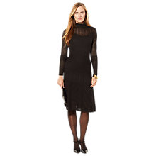Buy Lauren Ralph Lauren Pointelle-Knit Mockneck Dress, Black Online at johnlewis.com