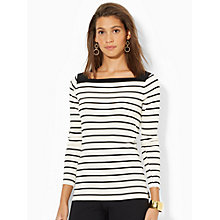 Buy Lauren Ralph Lauren Florina Boatneck Top Online at johnlewis.com