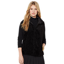 Buy Lauren Ralph Lauren Reversible Funnelneck Vest Gilet, Black Online at johnlewis.com