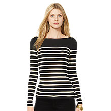 Buy Lauren Ralph Lauren Cathleena Top, Black Online at johnlewis.com