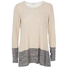 Buy Max Studio Contrast Hem Knit Jumper, Bone/Ecru Online at johnlewis.com