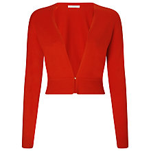Buy BOSS Wool Knit Cardigan, Open Red Online at johnlewis.com