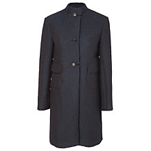 Buy Max Studio Cloque Coat, Navy/Black Online at johnlewis.com
