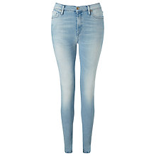 Buy 7 For All Mankind Skinny Silk Touch Jeans, Baby Blue Online at johnlewis.com